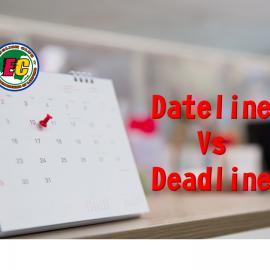 dikejar tugas, dateline atau deadline?