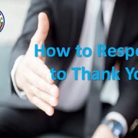 """Bagaimana Merespon """"Thank You"""" ?"""